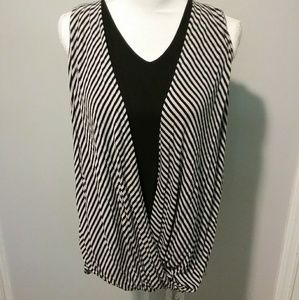 Women's striped extra large blouse